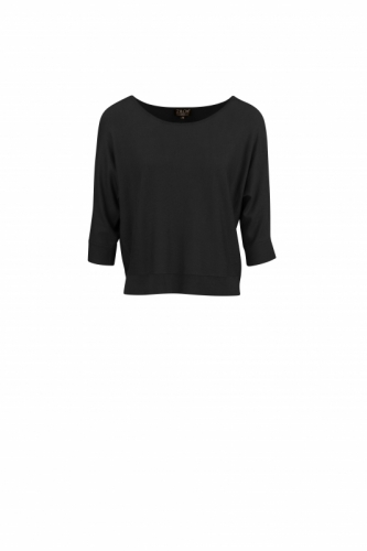 Zilch Top Bat Sleeve Black