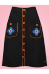 Tante Betsy Button Skirt Black
