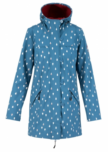 Blutgeschwister Wild Weather Long Anorak Baltic Seadrops