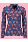 Tante Betsy Button Shirt London Blue