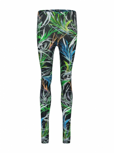 IEZ! Jersey print Black Leaves Legging