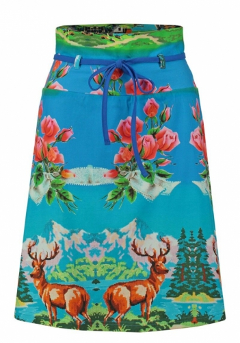 Tante Betsy Belt Skirt Over the Top Blue