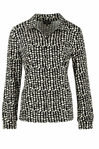 Zilch Blouse Pearls Silver Black