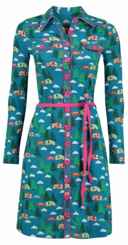 Tante Betsy Dress Happy Camper Blue