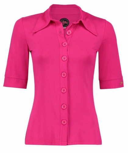 Tante Betsy Button Shirt Solid Viscose Pink