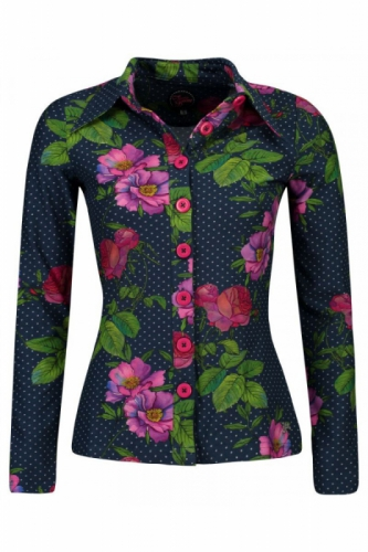 Tante Betsy Button Shirt Romantica Navy