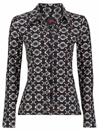 Tante Betsy Button Shirt Retro Connection Black