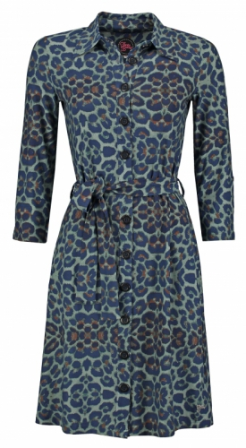 Tante Betsy Shirt Dress Leopard Dark
