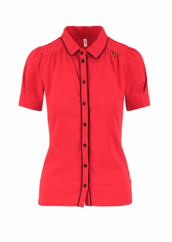 Blutgeschwister Logo Jersey Blousette Simpley Red