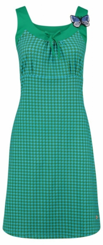 Tante Betsy Dress Josephine Houndstooth Green