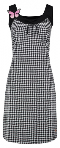 Tante Betsy Dress Josephine Houndstooth Black