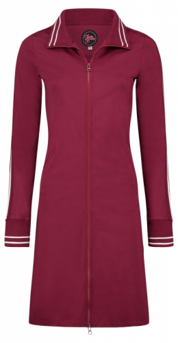 Tante Betsy Dress Sporty Zippie Long Red/Burgundy